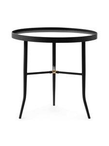Normann Copenhagen - Lug Table Small -pöytä 49 x ⌀ 50 cm - BLACK | Stockmann