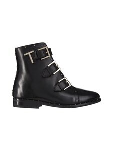 Ted Baker London - Romona Triple Buckle Biker Boot -nahkanilkkurit - 00 BLACK | Stockmann
