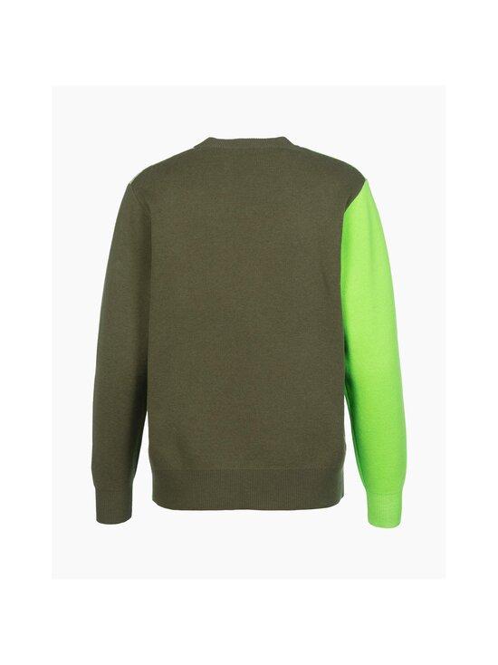 Marimekko - Co-Created Sinirinta knitted pullover -neule - 066 BRIGHT GREEN, DARK OLIVE   Stockmann - photo 2