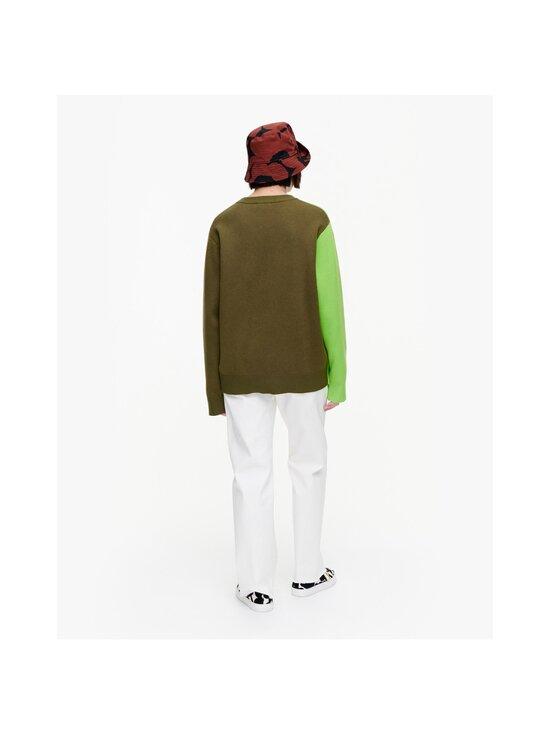 Marimekko - Co-Created Sinirinta knitted pullover -neule - 066 BRIGHT GREEN, DARK OLIVE   Stockmann - photo 4