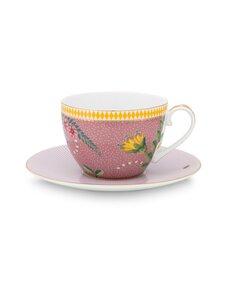 PIP Studio - La Majorelle -kahvikuppi 280 ml ja lautanen - PINK | Stockmann