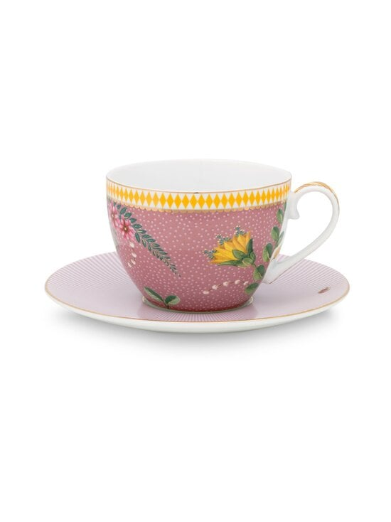 PIP Studio - La Majorelle -kahvikuppi 280 ml ja lautanen - PINK | Stockmann - photo 1