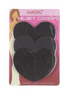 Magic - Heart Covers -nännisuoja 6 kpl - BLACK | Stockmann
