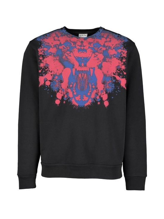 MARCELO BURLON - Front Tiger Reg Crewneck -collegepaita - 1025 BLACK RED | Stockmann - photo 1