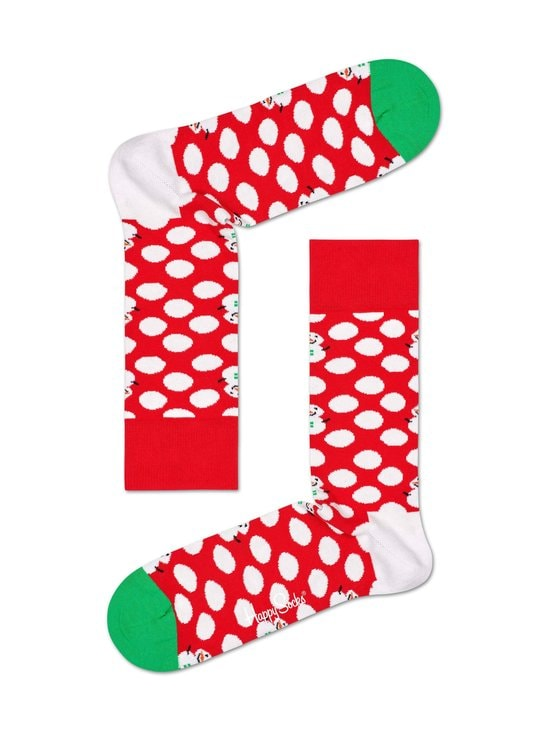 Happy Socks - Big Dot Snowman -sukat - 4300-RED | Stockmann - photo 1