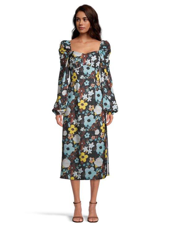 NA-KD - Puff Shoulder Midi Dress -mekko - BLACK FLOWER | Stockmann - photo 2