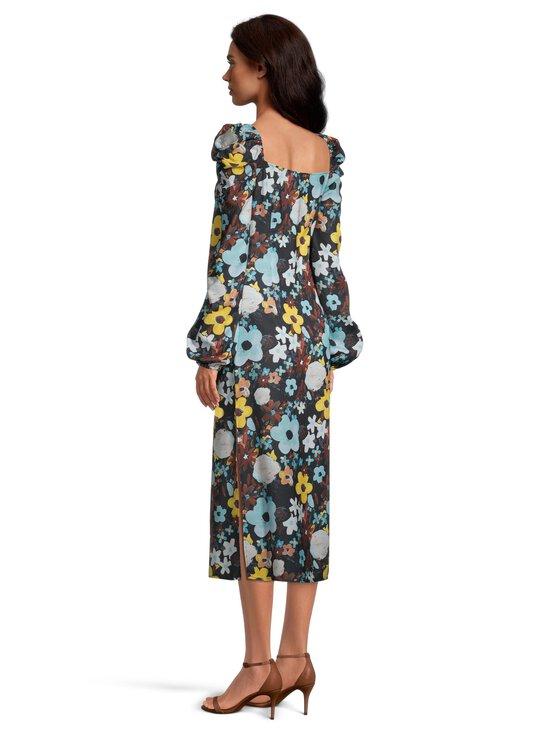 NA-KD - Puff Shoulder Midi Dress -mekko - BLACK FLOWER | Stockmann - photo 3