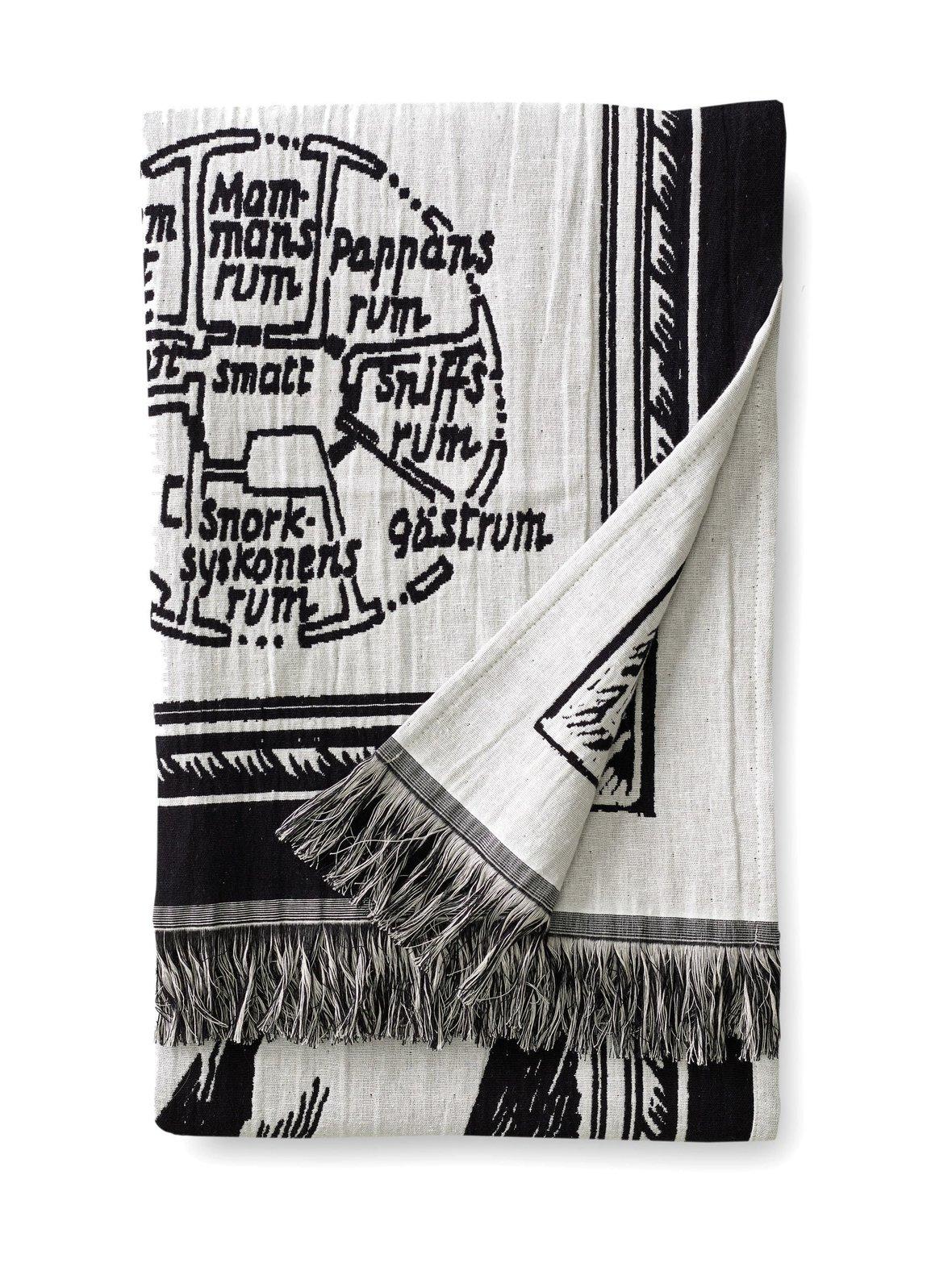 Muumikartta-torkkupeitto 130 x 170 cm, FINLAYSON