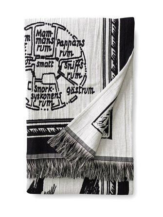 Moomin Map blanket 130 x 170 cm - Finlayson