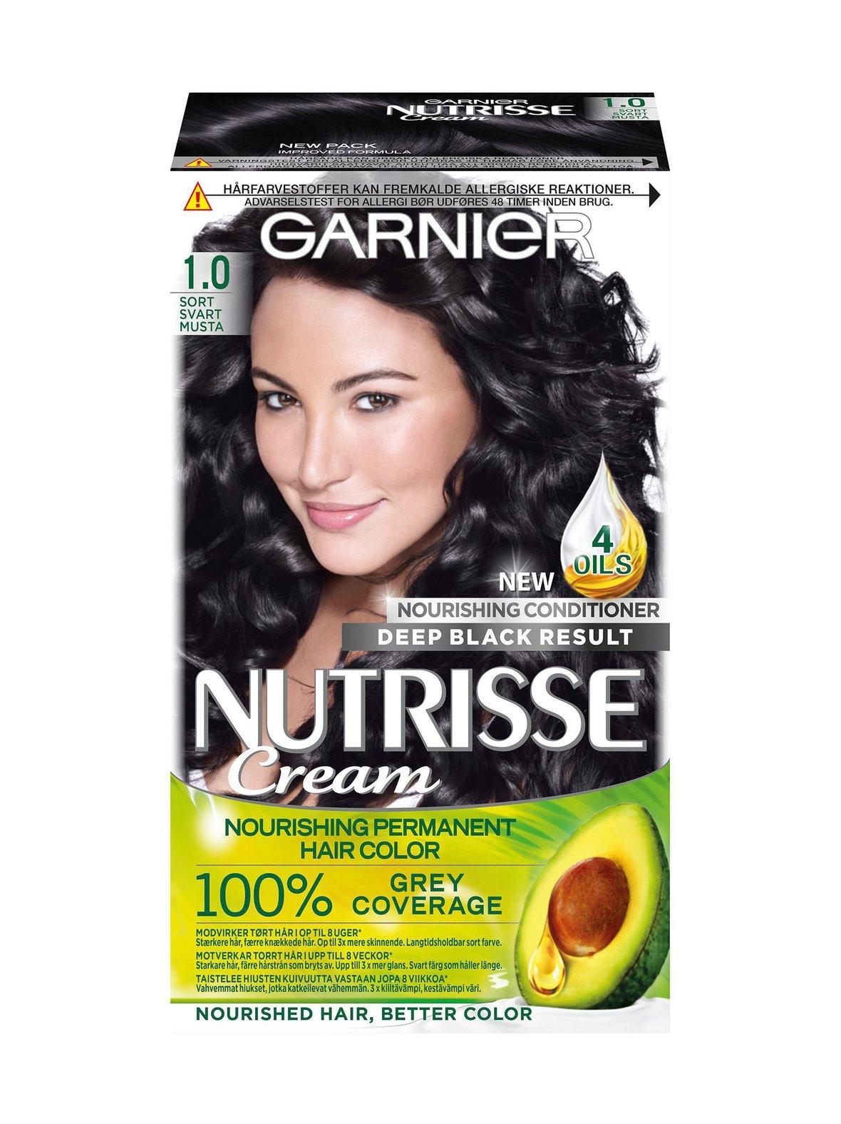 1 Musta Garnier Nutrisse Cream -kestoväri  ad9a98fe78