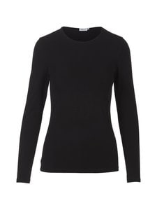 Filippa K - Cotton Stretch Long Sleeve -paita - BLACK | Stockmann