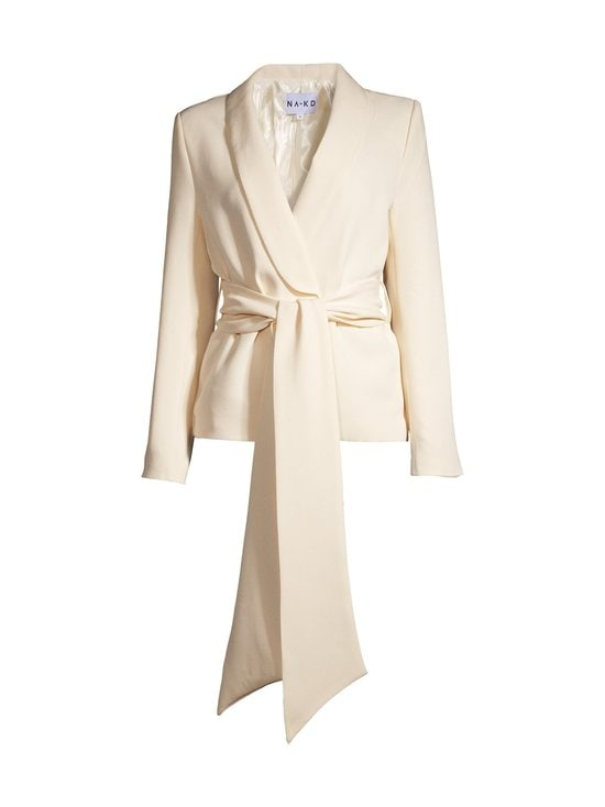 NA-KD - Wide Belted -bleiseri - CREAM | Stockmann - photo 1