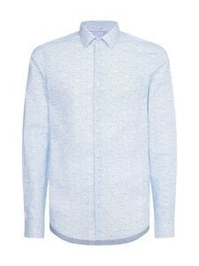 Calvin Klein Menswear - FLOWER PRINT SLIM -kauluspaita - 0GY LIGHT BLUE   Stockmann