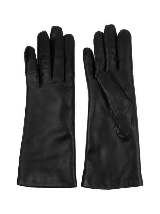 Hestra - Piqué Cashmere -nahkakäsineet - 100 BLACK | Stockmann - photo 1