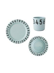 Design Letters - The Numbers -lautaset ja muki - GREEN (TURKOOSI) | Stockmann