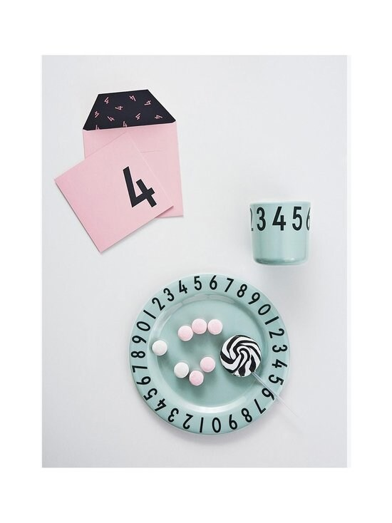 Design Letters - The Numbers -lautaset ja muki - GREEN (TURKOOSI) | Stockmann - photo 2