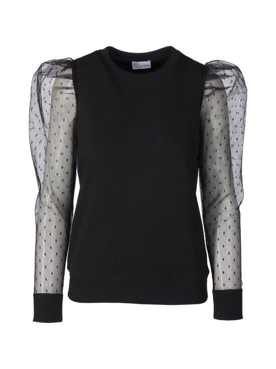 RED Valentino - Sweatshirt Point D'esprit Tulle -paita - 0NO BLACK | Stockmann - photo 1