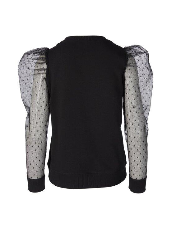 RED Valentino - Sweatshirt Point D'esprit Tulle -paita - 0NO BLACK | Stockmann - photo 2