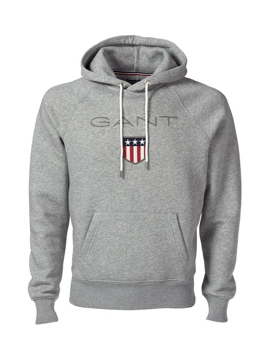 GANT - Shield Sweat -huppari - GREY MELANGE (MELEERATTU HARMAA) | Stockmann - photo 1