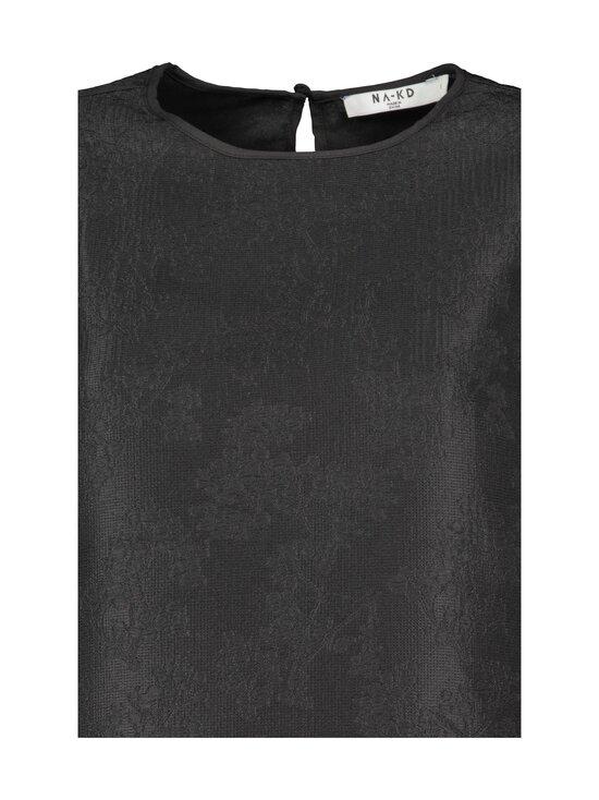 NA-KD - Structured Big Puff Sleeve -pusero - BLACK | Stockmann - photo 3
