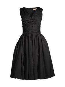 Michael Michael Kors - Stretch Cotton Poplin Midi Dress -mekko - 001 BLACK   Stockmann