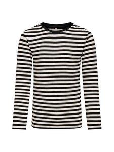 KIDS ONLY - Lin T-shirt -paita - BLACK STRIPES:CLOUD DANCER/FROSTED ALMOND LUREX | Stockmann