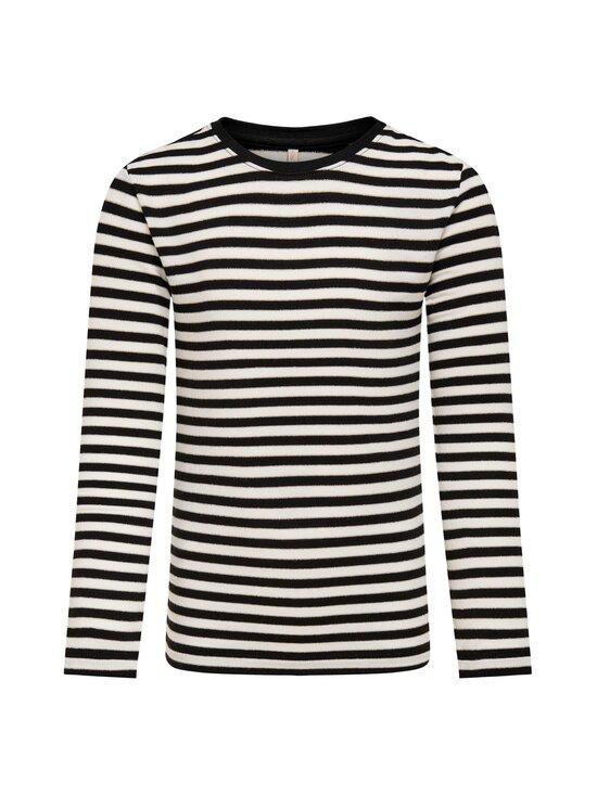 KIDS ONLY - Lin T-shirt -paita - BLACK STRIPES:CLOUD DANCER/FROSTED ALMOND LUREX   Stockmann - photo 1