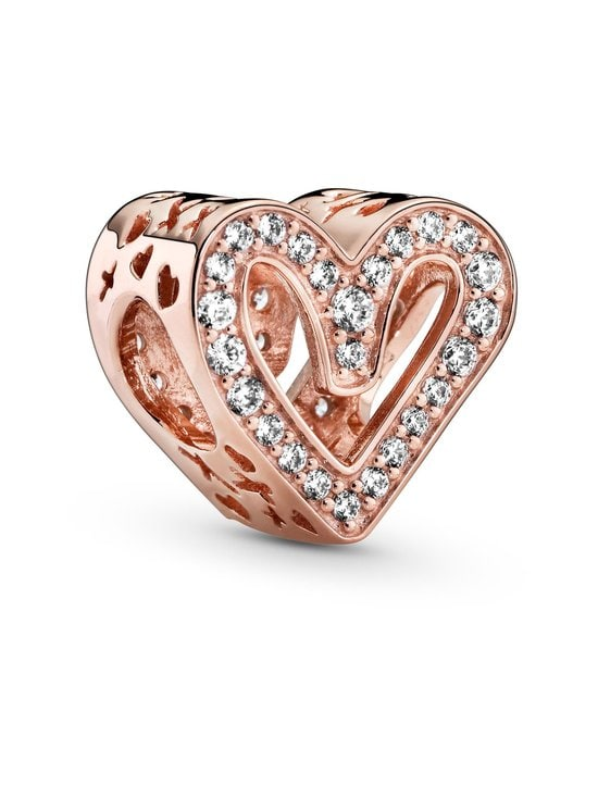 Pandora - Sparkling Freehand Heart -hela - 788692C01 ROSE GOLD | Stockmann - photo 1