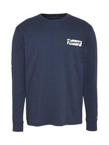 Tommy Jeans - TJM Longsleeve Script Box Tee -paita - C87 TWILIGHT NAVY | Stockmann