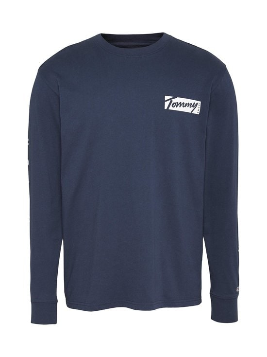 Tommy Jeans - TJM Longsleeve Script Box Tee -paita - C87 TWILIGHT NAVY | Stockmann - photo 1