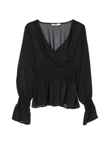 NA-KD - Smocked Sleeve -pusero - BLACK | Stockmann