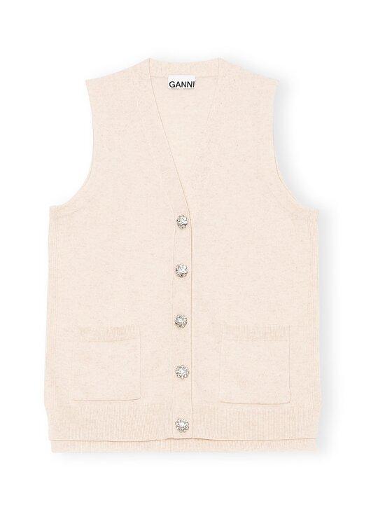 Ganni - Cashmere Knit Vest Solid -kashmirneuleliivi - BRAZILIAN SAND   Stockmann - photo 1