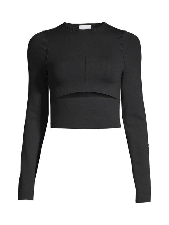 Reebok x Victoria Beckham - VB Logo Long Sleeve Crop Top -paita - BLACK | Stockmann - photo 1