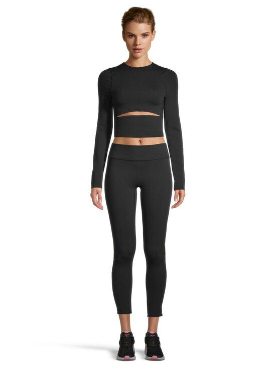 Reebok x Victoria Beckham - VB Logo Long Sleeve Crop Top -paita - BLACK | Stockmann - photo 2