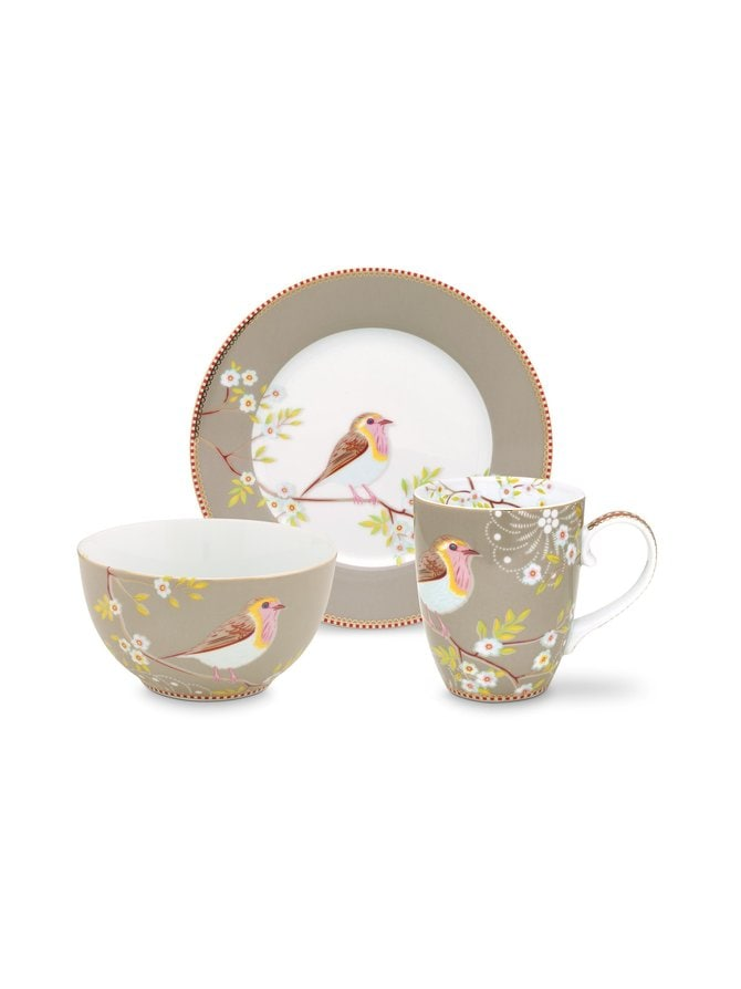 Early Bird Breakfast Set -astiasetti 3-osaa