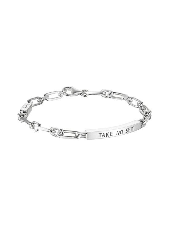 Efva Attling - Thin Silver Bracelet - Take No Shit -rannekoru - SILVER | Stockmann - photo 2