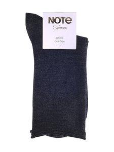 Note - Kiristämättömät villasekoitenilkkasukat - GREY   Stockmann