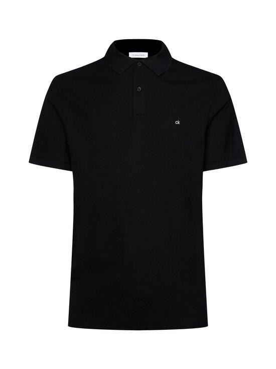 Calvin Klein Menswear - Logo Refined Pique Slim Polo -pikeepaita - 013 PERFECT BLACK   Stockmann - photo 1