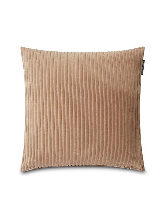 Lexington - Velvet Cord -tyynynpäällinen 50 x 50 cm - DARK BEIGE | Stockmann - photo 1