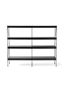 Menu - Zet, Storing System -hylly 2 x 4 - BLACK | Stockmann