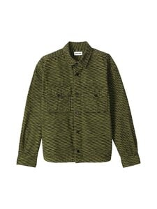 Kenzo - Printed Overshirt -paita - 49 - 'WAVE″ PRINTED COTTON - TAUPE KHAKI | Stockmann