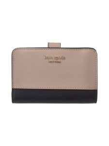 kate spade new york - Spencer Compact Wallet -nahkalompakko - WARM BEIGE/BLACK | Stockmann