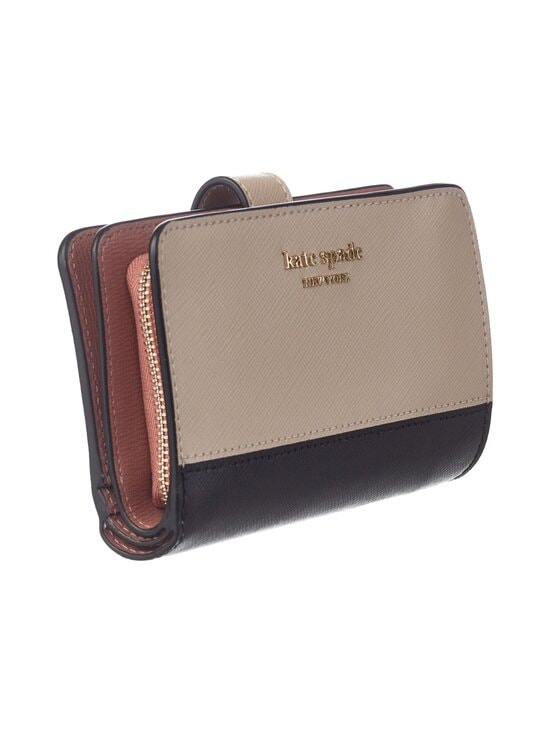 kate spade new york - Spencer Compact Wallet -nahkalompakko - WARM BEIGE/BLACK   Stockmann - photo 3