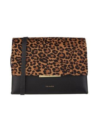 Abiagal Resin Chain Leopard Print Shoulder Bag leather bag