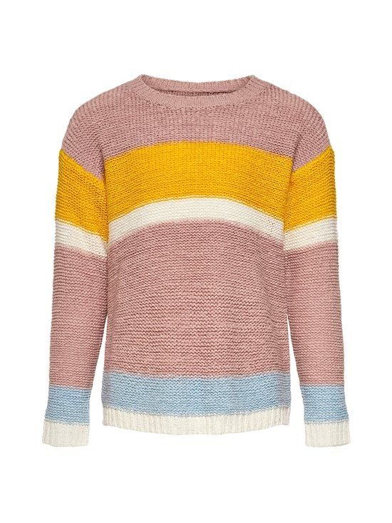 KIDS ONLY - KonMacy L/S Pullover -neule - ROSE SMOKE STRIPES:W. SOLAR POWER/CLOUD DANCER/CASHMERE BLUE | Stockmann - photo 1