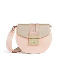 Furla - Metropolis Mini Crossbody Round -nahkalaukku - 0009S COLOR PLATINO+CANDY ROSE+COLOR | Stockmann