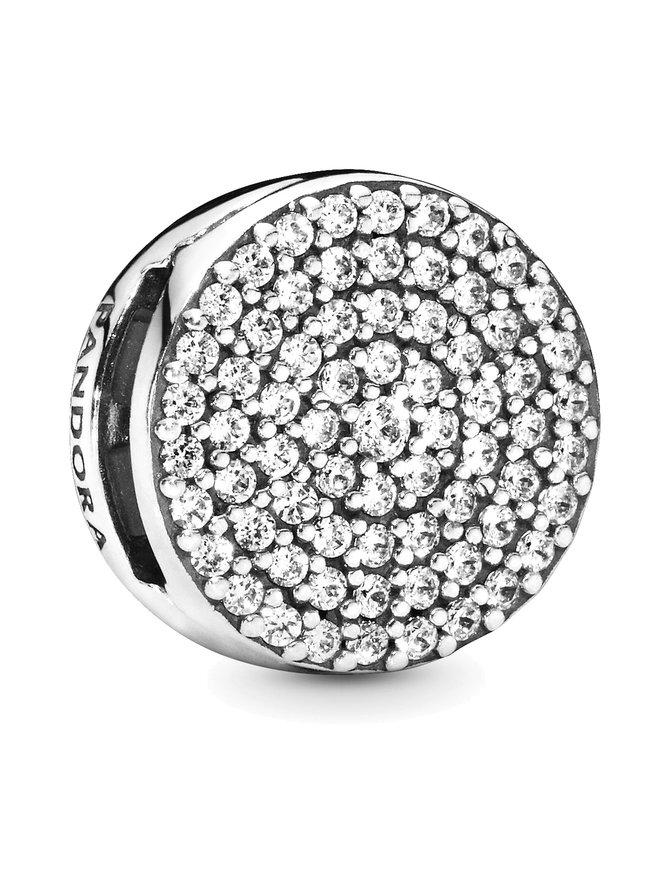 Reflexions Silver Clip Charm -koru