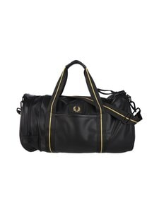 Fred Perry - Pique Texture Barrel Bag -laukku - 102 BLACK | Stockmann