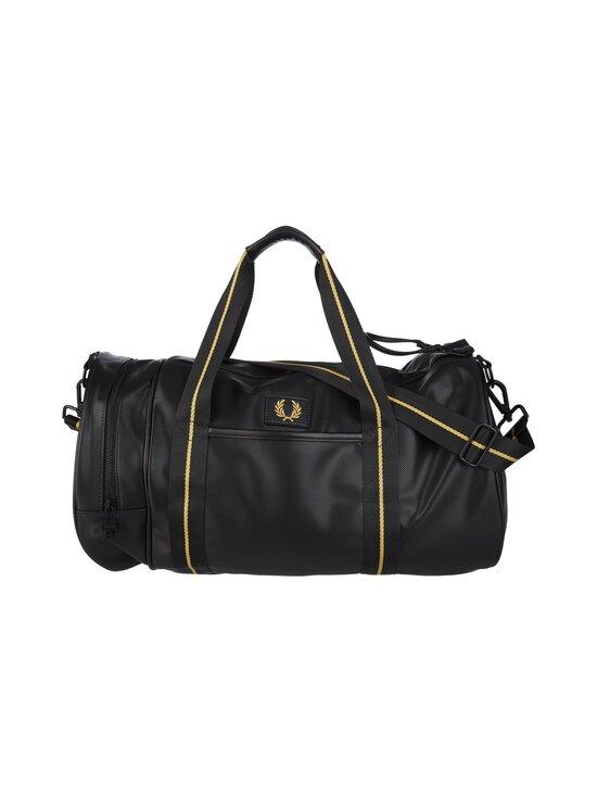 Fred Perry - Pique Texture Barrel Bag -laukku - 102 BLACK   Stockmann - photo 1