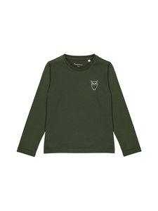 Knowledge Cotton Apparel - Flax Owl Long Sleeve Tee -paita - 1090 FORREST NIGHT | Stockmann